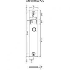 ALP213H Cobalt Mini Strike Plate