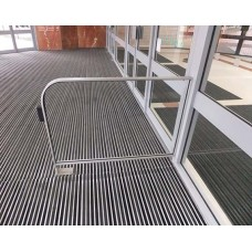 Glazed Floor To Wall Safety Barrier