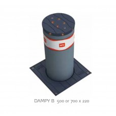 BFT Dampy B 700 x 220 Manual Gas Bollard Slate Grey