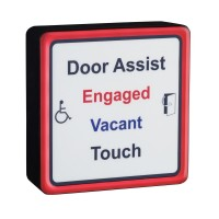 SQWCASSK Square Antimicrobial Door Assist Toilet Sensor