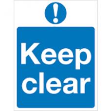 DAA- KEEP CLEAR Auto Door Signage
